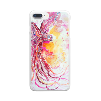AWESOME CLOUDのtori Clear smartphone cases
