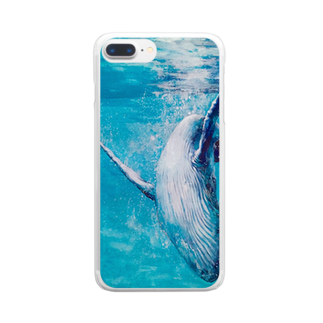AWESOME CLOUDのwhale Clear smartphone cases