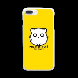 どやネコ!どやちゃん。の寝不足のねこさん Clear smartphone cases