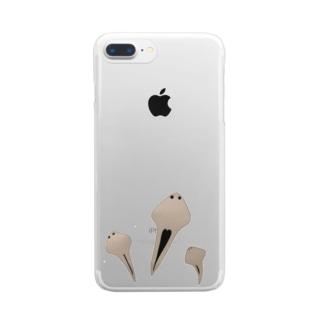 プラナリア Clear Smartphone Case