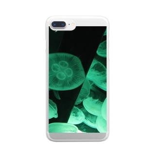 ゆらゆ らシリーズ(緑) Clear smartphone cases