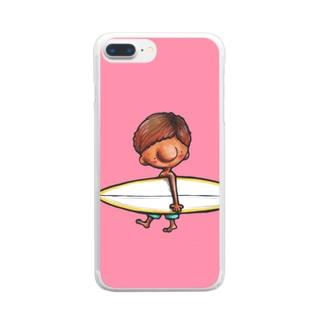 サーフボーイ Clear smartphone cases