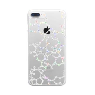 化学構造式シリーズ5 Clear smartphone cases