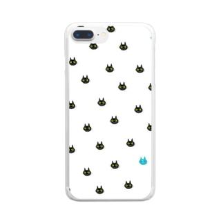 猫バグ Clear smartphone cases