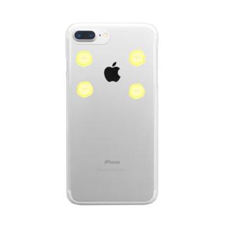 輪切りバナナ Clear smartphone cases