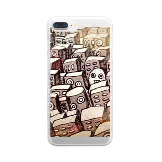 街とヨシヲ Clear smartphone cases