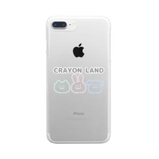 かわいい CRAYON LAND Clear smartphone cases