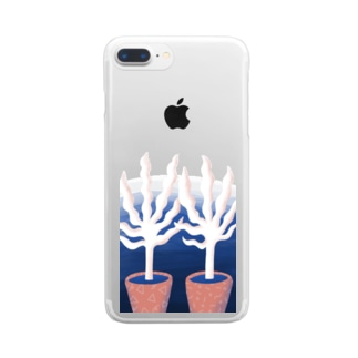 GHOST BOTANICAL Clear smartphone cases