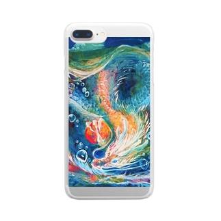 雨の奏者 Clear Smartphone Case