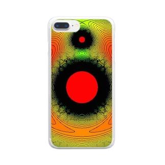 月と地球と太陽と Clear smartphone cases