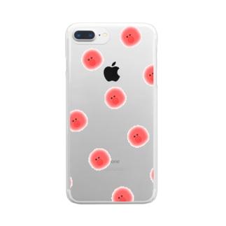 たこさん Clear smartphone cases