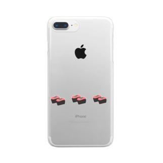 ねぎとろ Clear smartphone cases