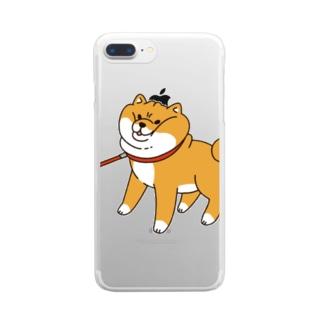 散歩から帰りたくない柴犬 Clear smartphone cases