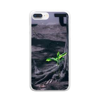 芽吹き Clear smartphone cases