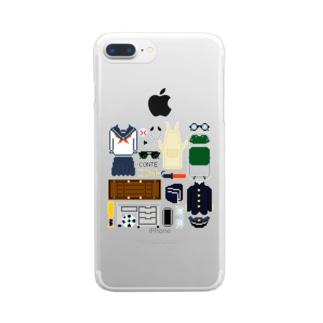 コントの小道具 Clear smartphone cases