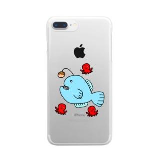 🐙ちょうちんあんこうin夏祭り(たこ焼きver.)🐙 Clear smartphone cases