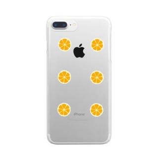 みかん Clear smartphone cases