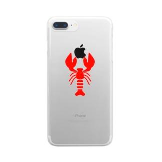 ロブスター🦞 Clear smartphone cases