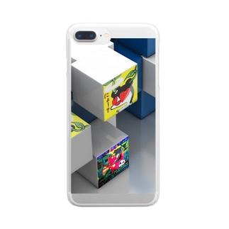 伝説の、にょ☆キュ~ブ Clear smartphone cases