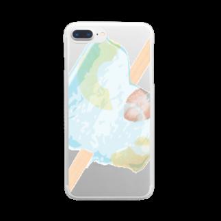 箱庭計画のアイス フルーツ 夏 Clear smartphone cases