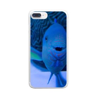 おさかなこんにちわ Clear smartphone cases