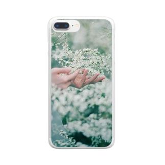ユキヤナギ Clear smartphone cases