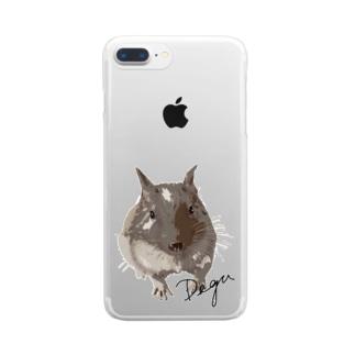 デグーのチョビ Clear smartphone cases