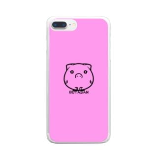 ブタさん Clear smartphone cases