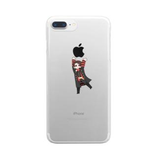 もちあげ Clear smartphone cases