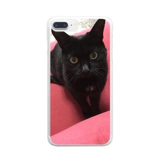 ぴこのスマホカバー Clear smartphone cases