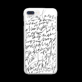 hugging love +《ハギング ラブ プラス》のhashirigaki Clear smartphone cases