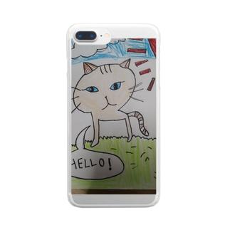 とら猫(茶) Clear smartphone cases