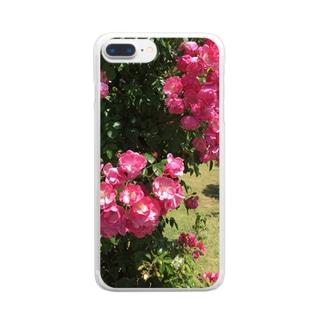 バラのスマホケース Clear smartphone cases
