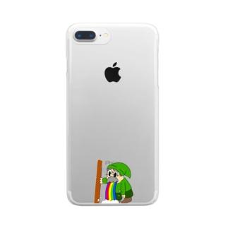 吐いてるドワーフ Clear smartphone cases