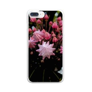 ピンクで幸多かれ! Clear smartphone cases