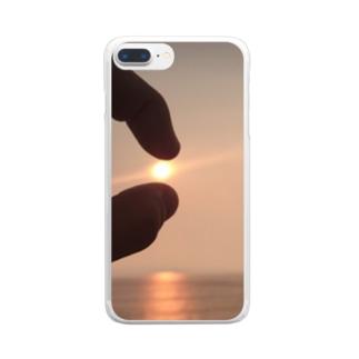 大粒ダイヤモンド Clear smartphone cases