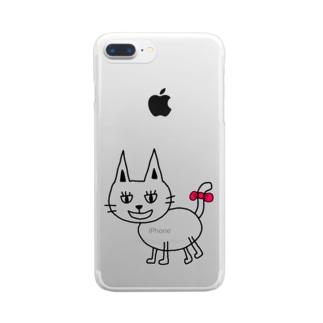 ねこ(๑ↀᆺↀ๑)✧ Clear smartphone cases