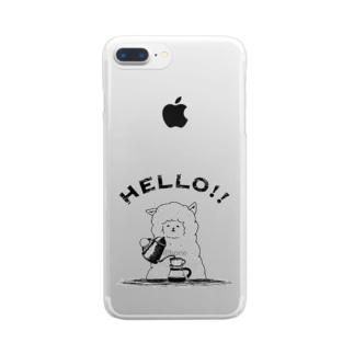 アルパカ珈琲店 Clear smartphone cases
