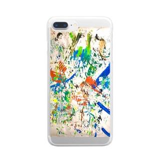 カラフル1 Clear smartphone cases