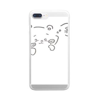 かわうそさん。 Clear smartphone cases