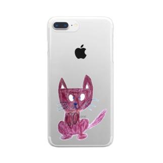 みけねこグッズ Clear smartphone cases