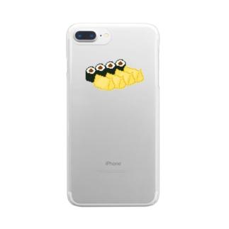 お寿司クン(助六 関東) Clear smartphone cases