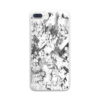 モノクロ1 Clear smartphone cases