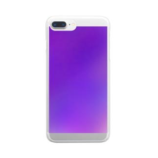 むらさきです。 Clear smartphone cases