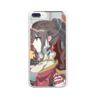秋雨様 Clear smartphone cases