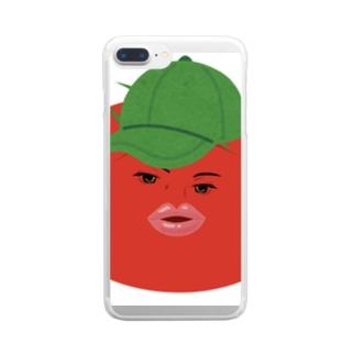 ハンサムトマト Clear smartphone cases