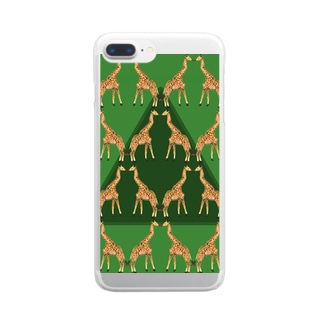 KISSING GIRAFFES Clear smartphone cases