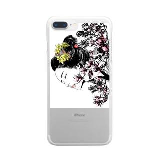 マグノリア Clear smartphone cases