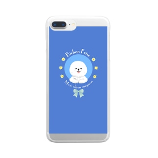 ごきげん!ビションフリーゼ Clear smartphone cases