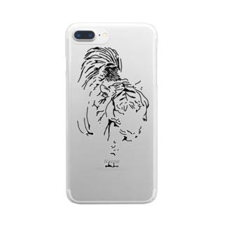 漆黒の虎 ※黒不可 Clear smartphone cases